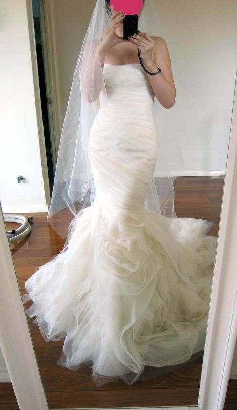 f7c43250fc37 Vera Wang Blush Gemma- Never Worn! Size 8 Wedding Dress – OnceWed.com | Say  Yes to the dress! | Wedding dresses, Wedding, Mermaid wedding