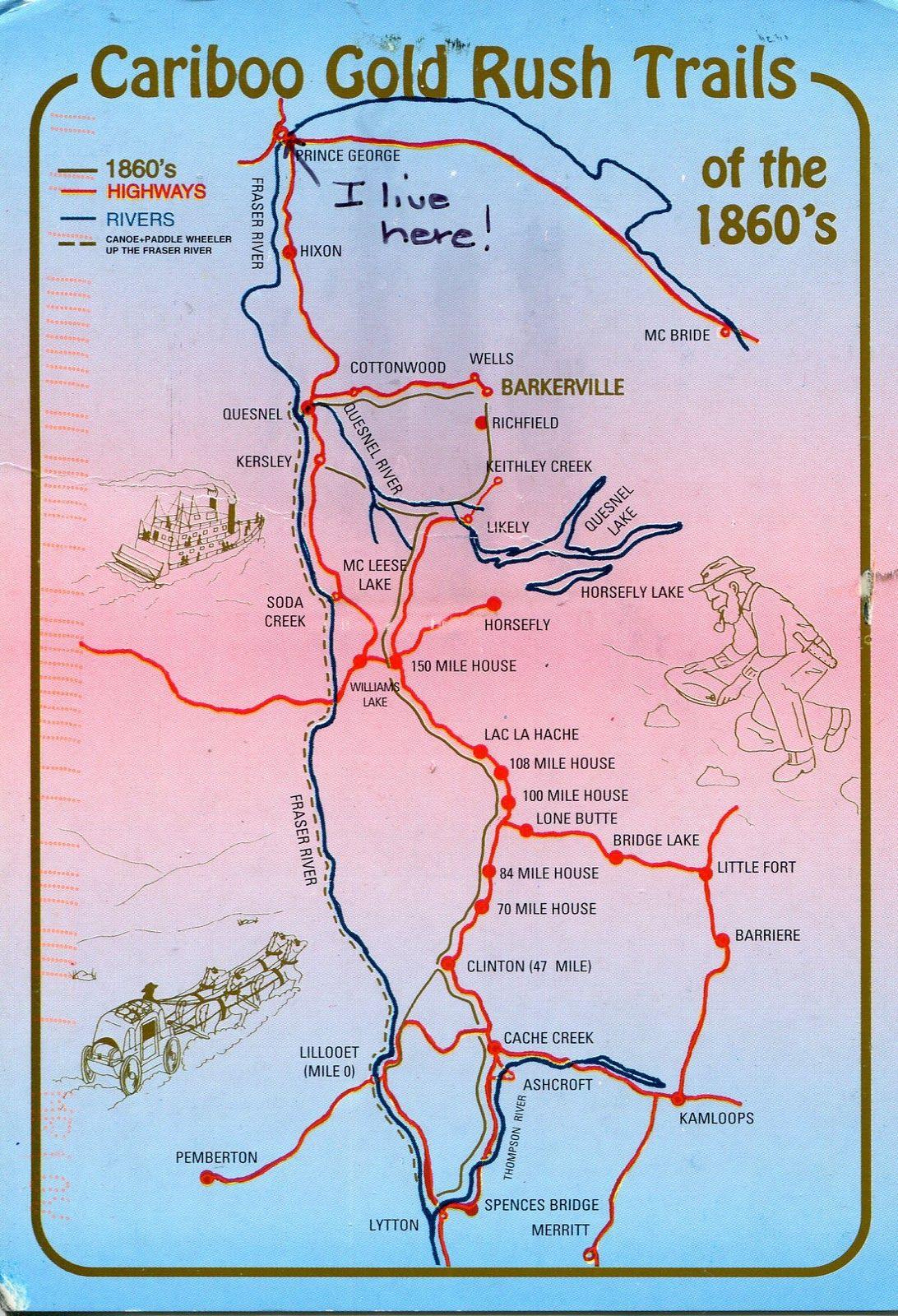 Cariboo Trail Map