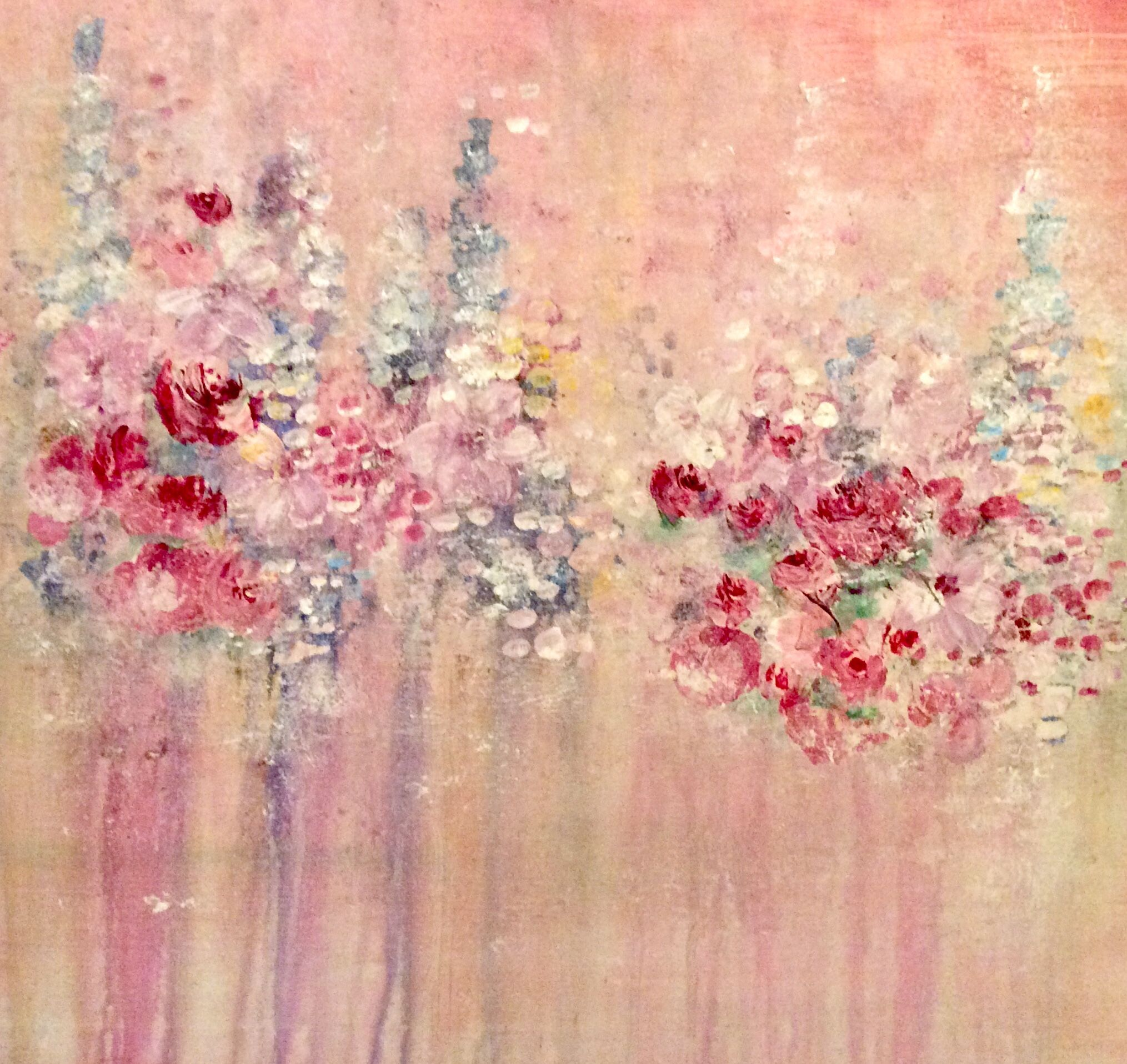 Connyartig Acryl Auf Leinwand Blumenwiese Abstrakt Romantisch Zart