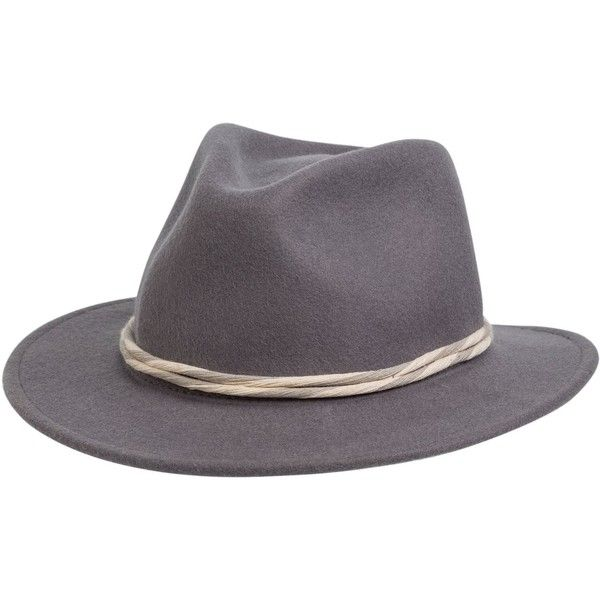 Brixton Corbet Fedora ( 54) ❤ liked on Polyvore featuring accessories 4c37ba871cc