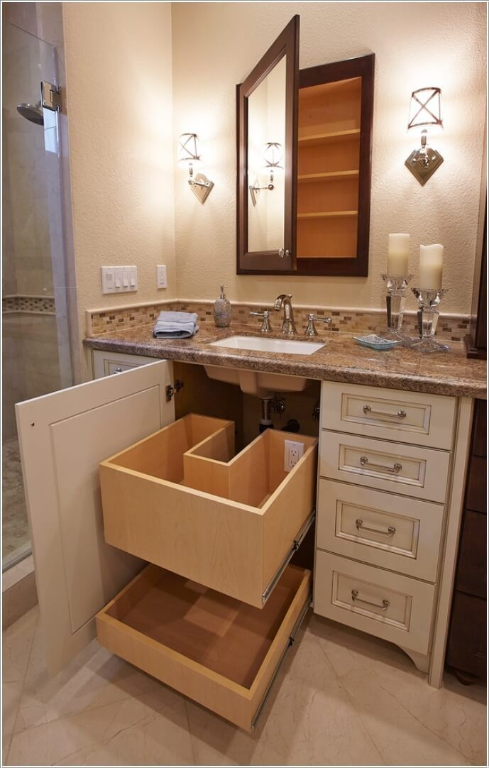 10 clevere versteckte Badezimmer-Ideen #smallbathroomstorage