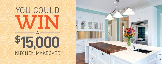 You Could Win A 15000 Kitchen Makeover Ends 09 30 2014 Enter