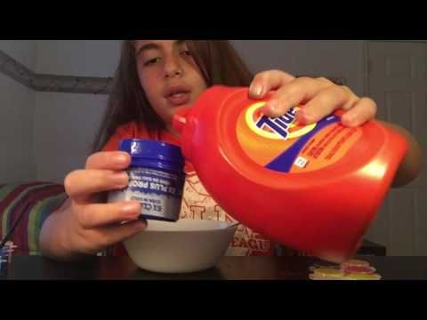 How to make glitter glue slime with tide