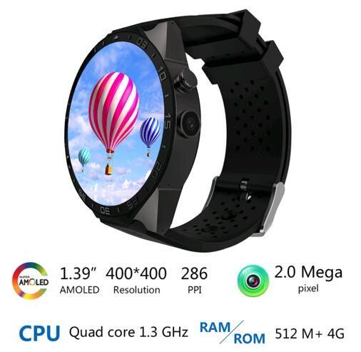 KingWear KW88 smart uhr Android 5.1 OS 1,39 zoll Amoled Bildschirm 3G wifi Smartwatch Telefon MTK6580 GPS Schwerkraft-sensor Schrittzähler //Price: $US $103.73 & FREE Shipping //     #smartwatches