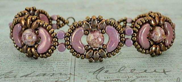 Linda's Crafty Inspirations: Bracelet of the Day: Tweaked Jolie Band - Violet Gold Luster