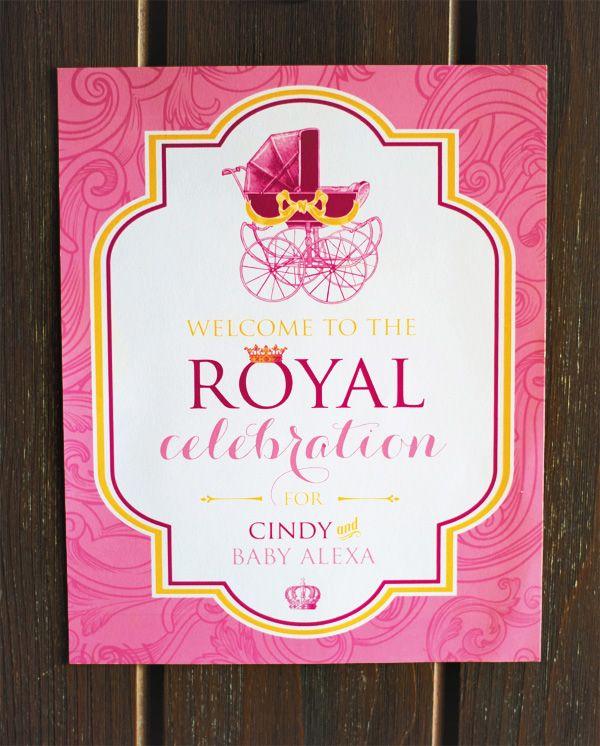 {Pink, Glitter U0026 Gold} Royal Baby Shower: Recap Part 1 U2013 Theme U0026 Decorations
