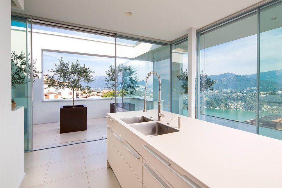 Minimalist Mountain Top Home Designed Around Panoramic Lake Views ...