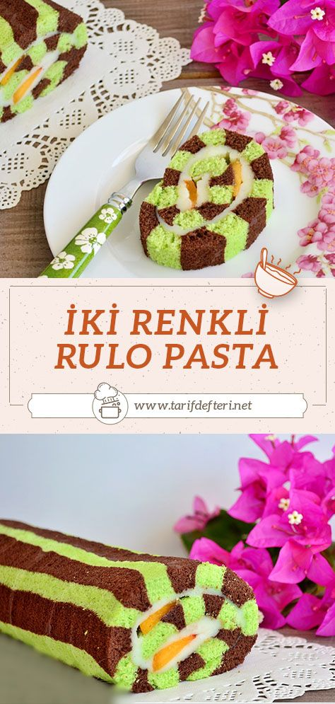 Resimli İki Renkli Rulo Pasta nasıl yapılır? Daha fazla pasta tarifleri için sayfamızı takip edebilirsiniz. #ikirenklirulopastatarifi #rulopasta #pastatarifleri #pasta
