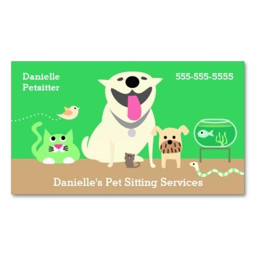 Pet sitter green dog cat bird fish snake bird business card make pet sitter green dog cat bird fish snake bird business card make your own reheart Choice Image
