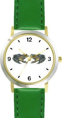 Two Frogs or Toads in Love - WATCHBUDDY® DELUXE TWO-TONE THEME WATCH - Arabic Numbers - Green Leather Strap-Size-Children's Size-Small ( Boy's Size & Girl's Size ) WatchBuddy. $49.95. Save 38%!
