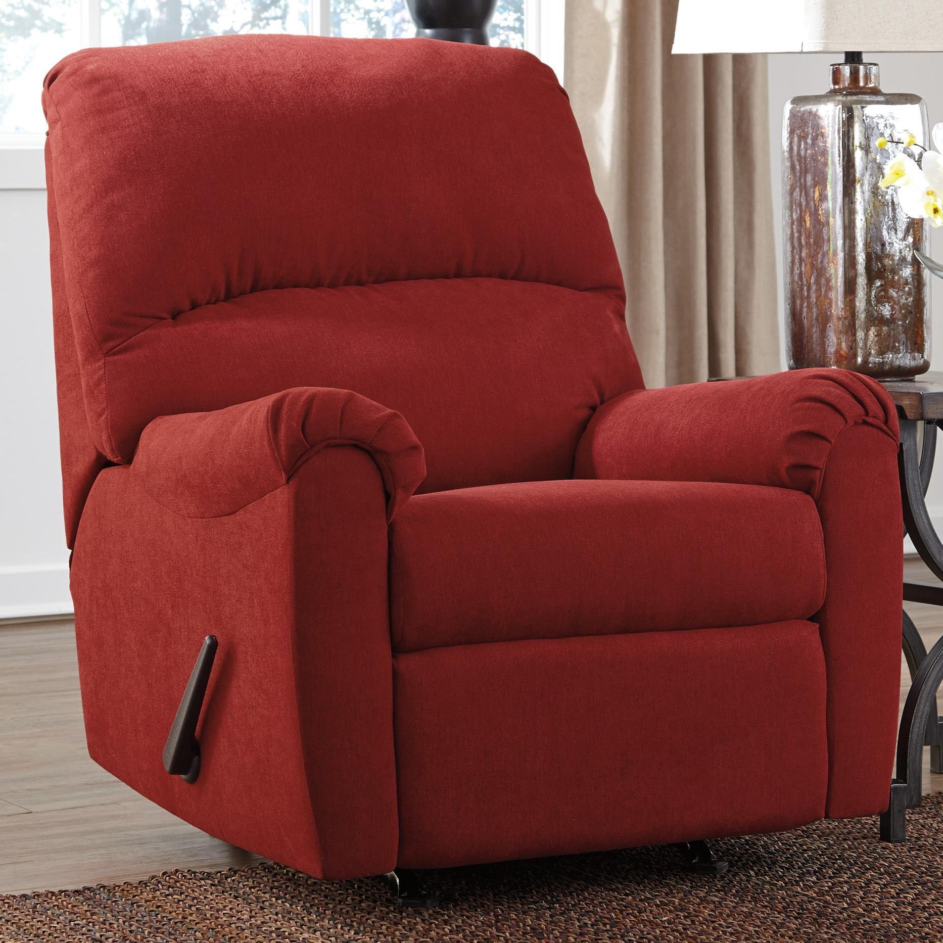 Zeth Crimson Casual Contemporary Rocker Recliner By Signature Design By Ashley At Speedy Furniture Rocker Recliners Recliner Furniture