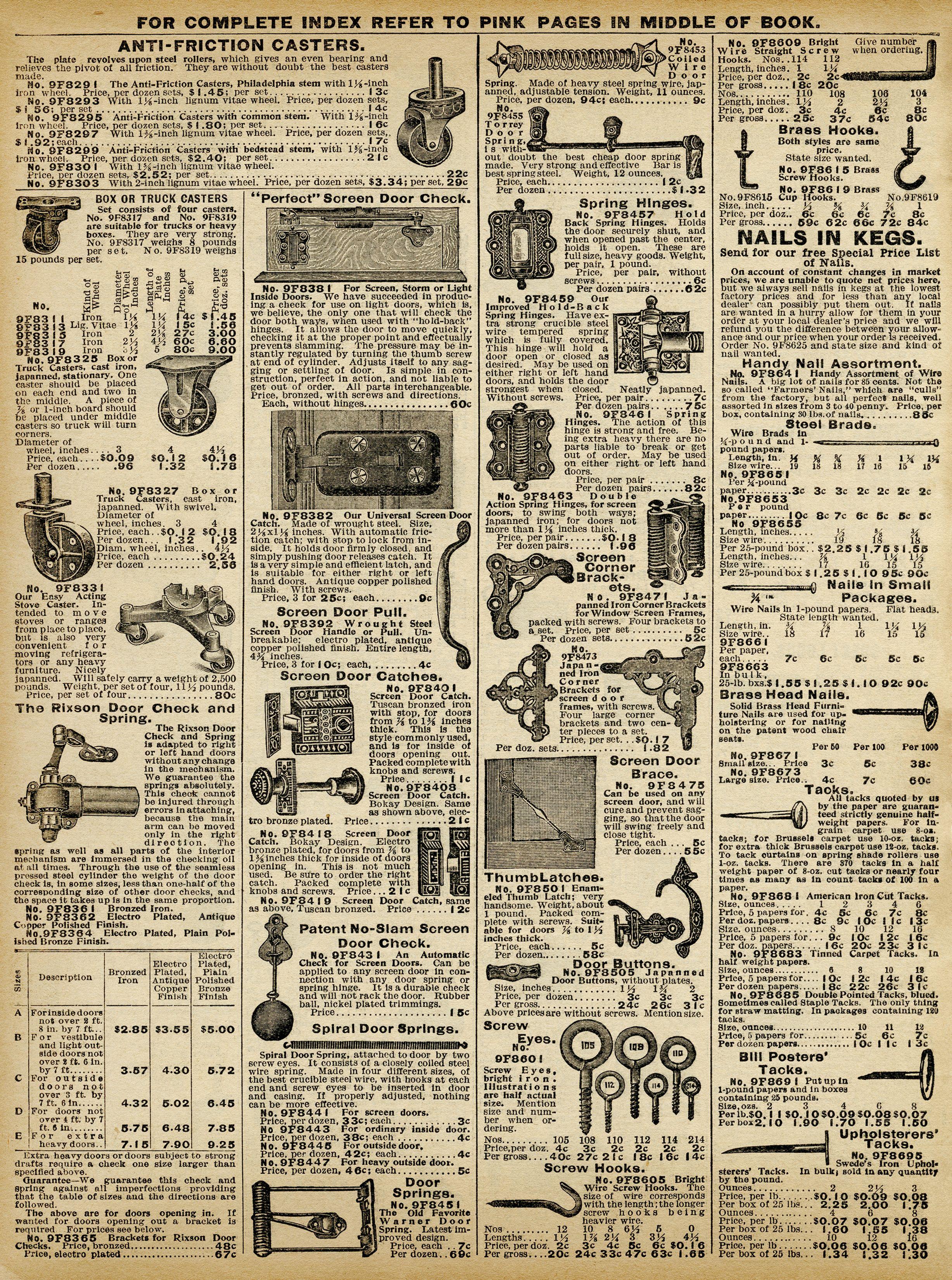 Free Vintage Hardware Catalog Book Pages Vintage Printables Background Digital Papers In 2020 Vintage Hardware Scrapbook Stickers Printable Vintage Newspaper