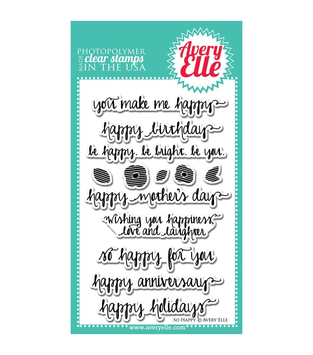 """Avery Elle Clear Stamp Set 4/""""X6/""""-All Of Us"""