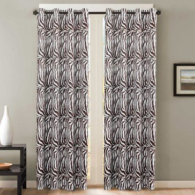 Bloomsbury Market Dummy Abstract Blackout Thermal Grommet Curtain Panels Size 52 W X 84 L