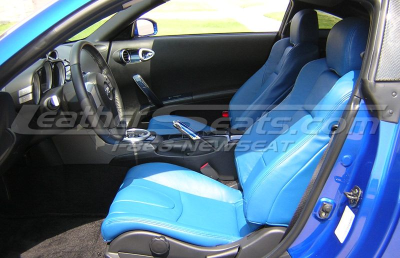 2004 Nissan 350z Single Tone Pacific Blue Leather Interior Black