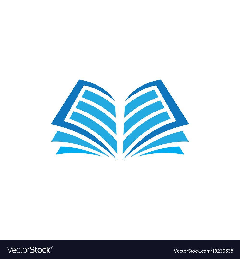 Open Book Logo Education Vector Image On Book Logo Education