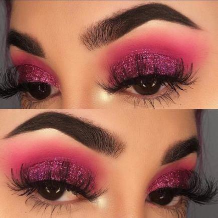 44+ ideas makeup glitter face eyeshadow tutorials for 2019 #makeup #EyeMakeupHooded