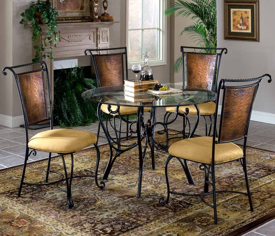 Hillsdale Furniture Milan Wrought Iron Dinette Table Set w ...