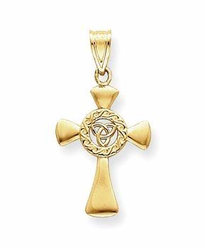 14k Gold Celtic Cross Pendant ANTIQUE VINTAGE CROSS JEWELRY
