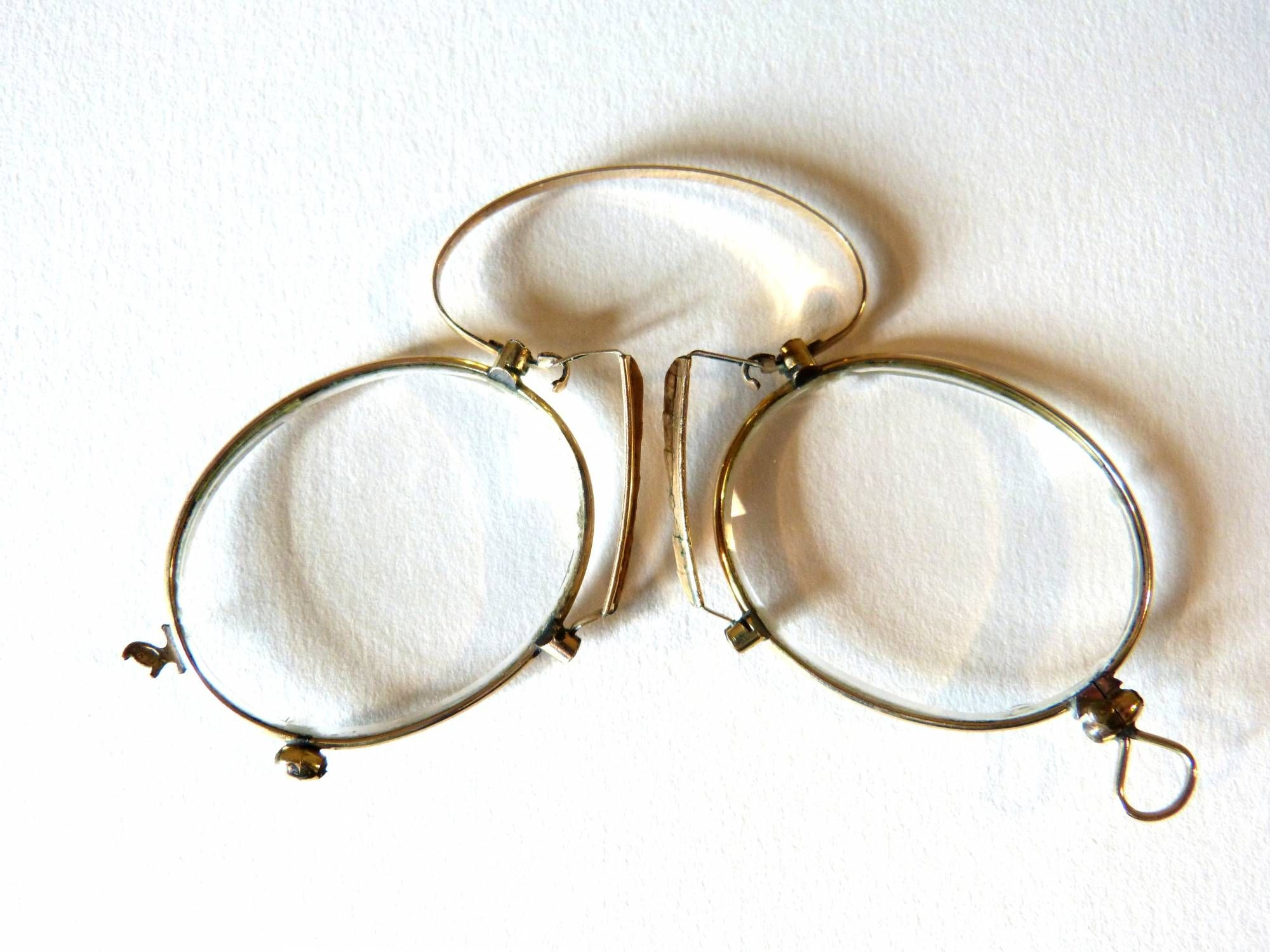 Antique In Gold Nose Optics Clip 1900 Plated Glasses For Sale Yfvby76g