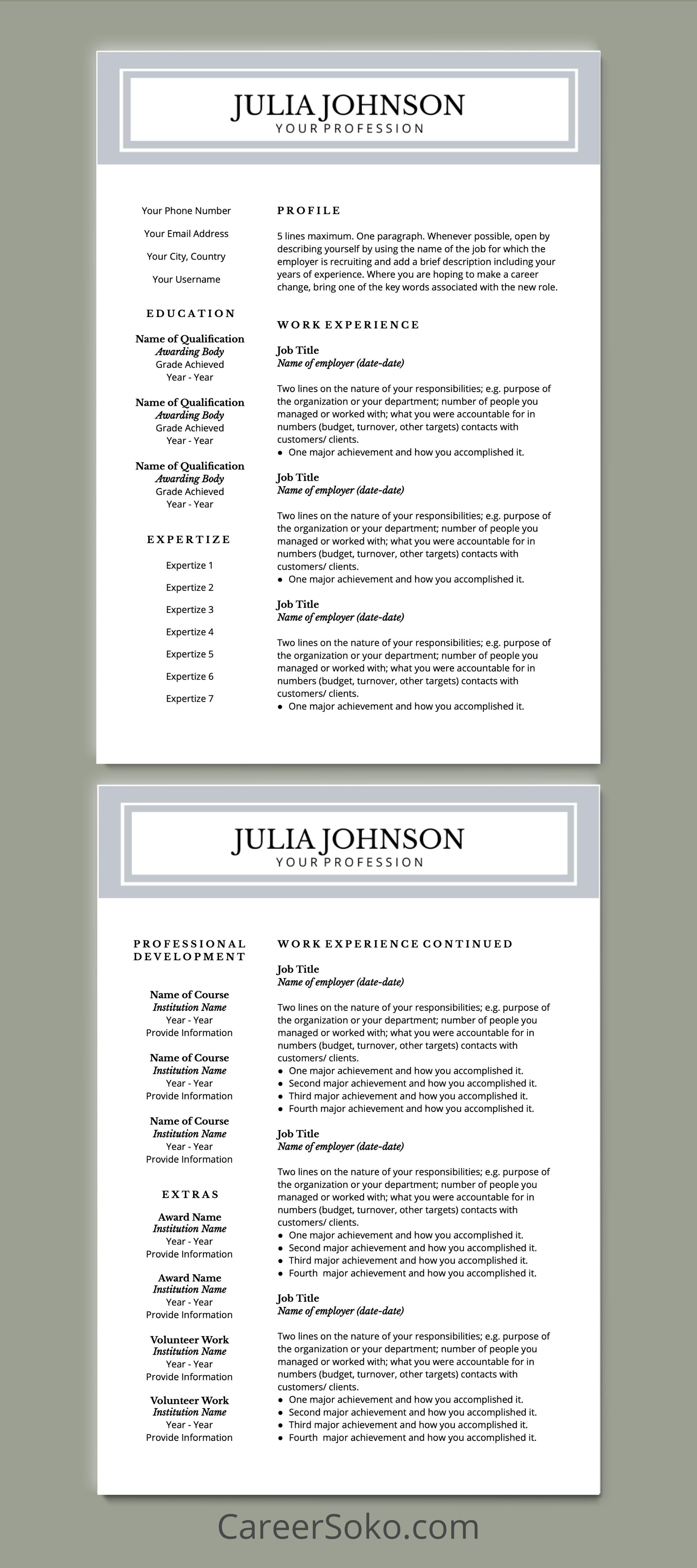 Google Docs Resume Teacher Resume Resume Template Cv Template Resume And Cover Letter Template Resume Design Template Resume Template Cover Letter Template