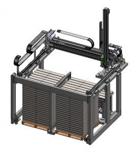 The Gantry Palletizing System skillfully stacks one or more products at a time and is ideal for facilities with very little floor space. It's configured specifically for your facility's footprint and can be equipped with multiple pick heads.