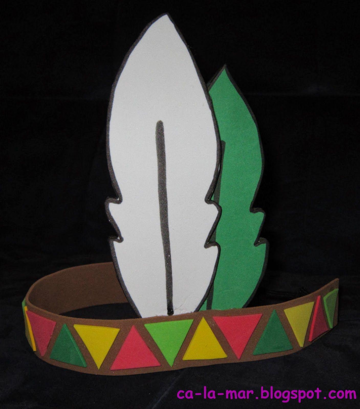 Disfraces: Pluma de indio con cinta | Manualidades (BLOG ...