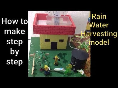 How To Make Working Model Of Rain Water Harvesting Step By