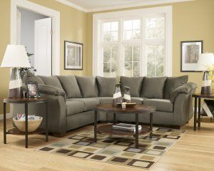 Genial Darcy Sage Microfiber Green Sectional By Ashley Furniture Reviews