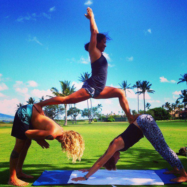 Pin for Later: Gorgeous Shots of Couples Doing Yoga to Inspire Your Day  Source: Instagram user melissarajesh