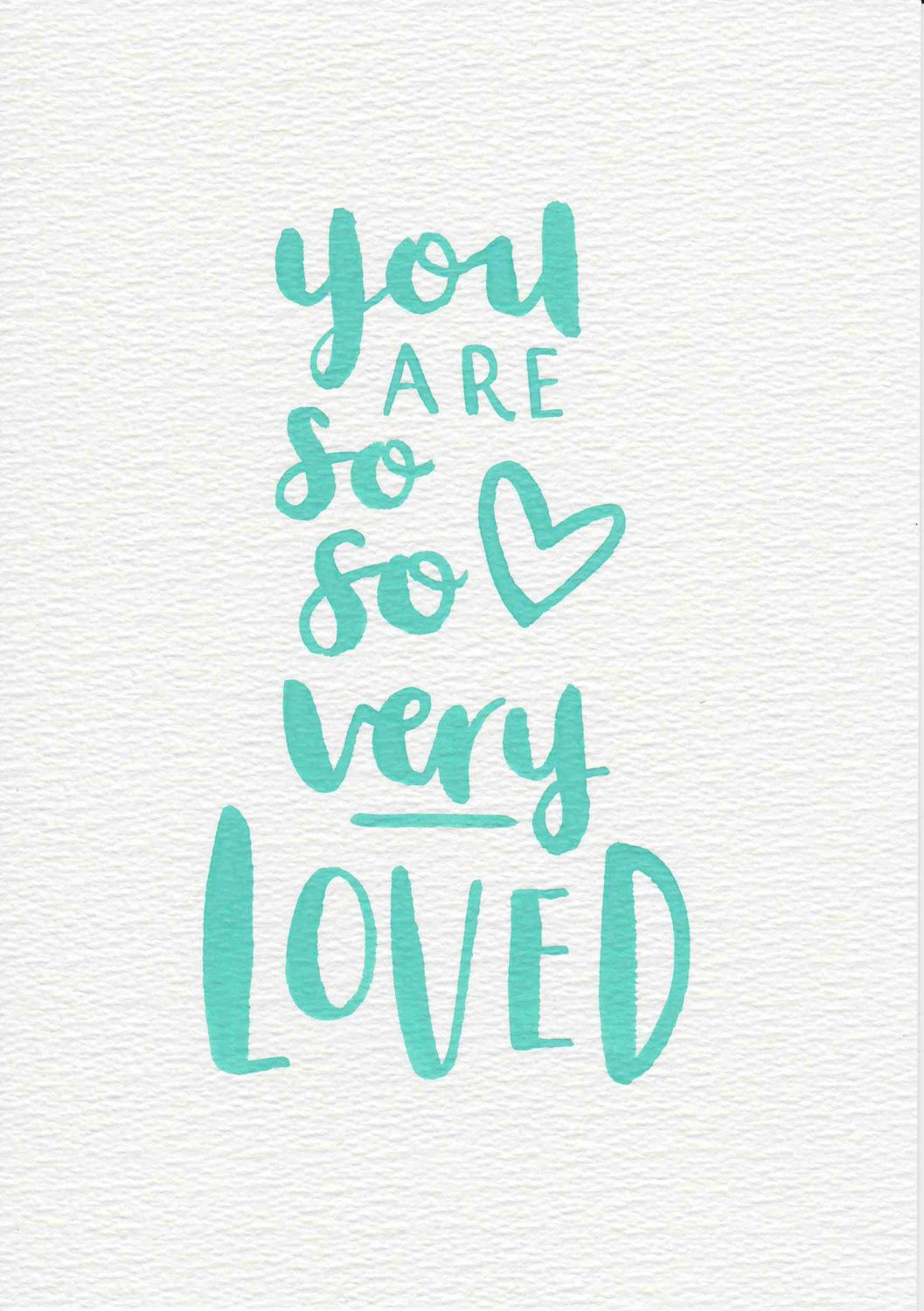 Mint Nursery Art, Baby Gift, You Are Loved Nursery Quote