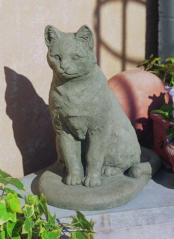 Garden Cat Cast Stone Cat Statue Made By Campania International