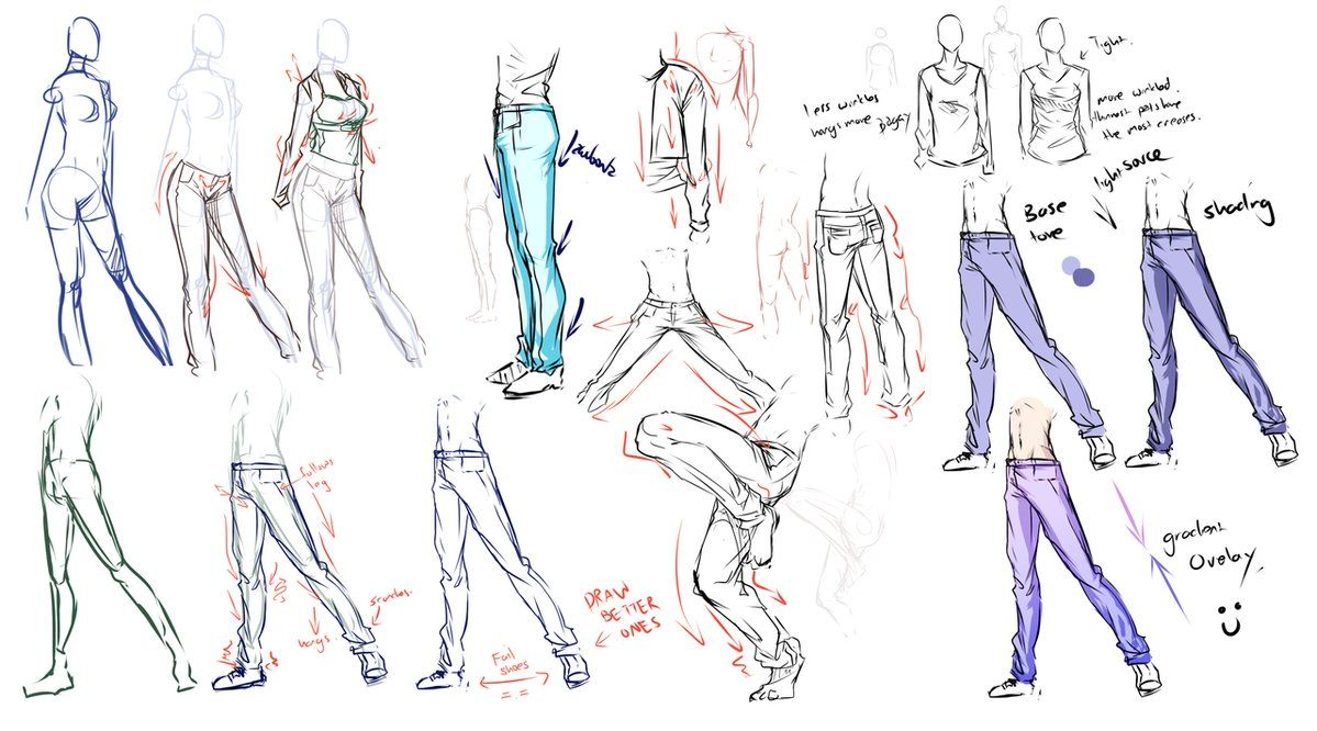 Pants Jeans Clothes Study By Moni158 On Deviantart Drawing