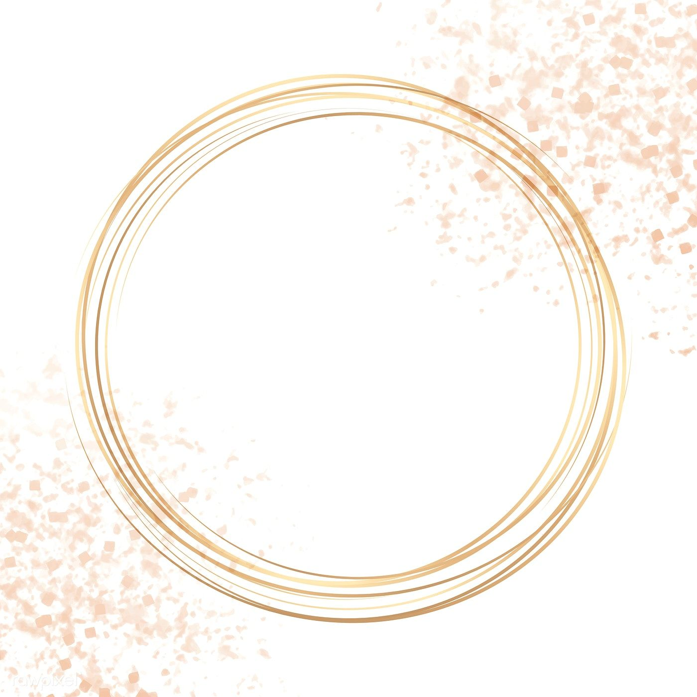 Download Premium Vector Of Gold Circle Frame On A Pastel Pink And Purple Logo Maquiagem Logotipo De Loja Logotipo Salao De Beleza