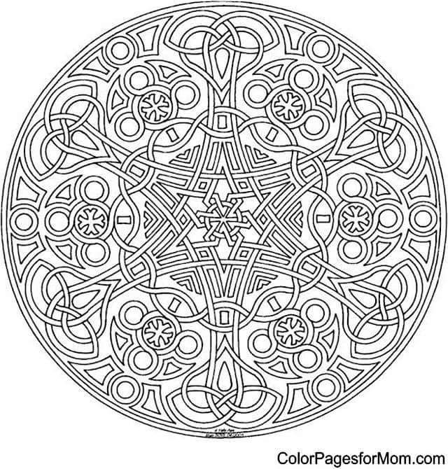 Pin By Charlean Starr On To Color Mandalas Geometric Coloring