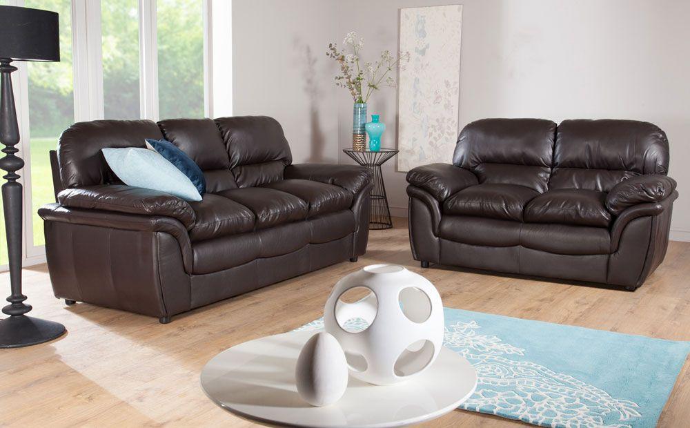 dark brown leather furniture