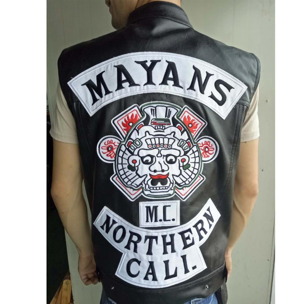 Mayans Mc Vest Vest Motorcycle Vest Motorcycle Clubs