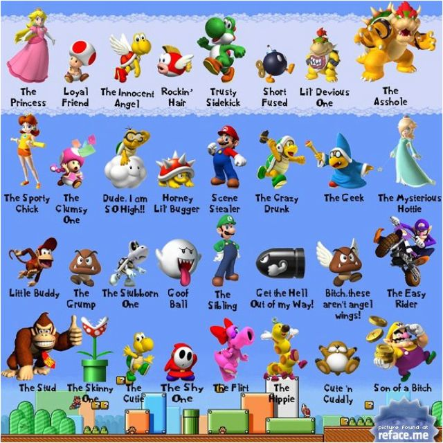 Super Mario Characters Explained Mario Bros Super Mario