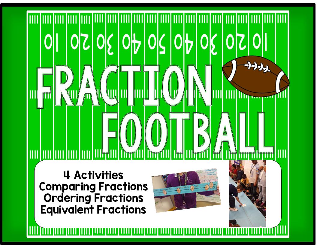 Fraction Football Activity Bundle Football Math Activities Fractions Math Fractions [ 816 x 1056 Pixel ]