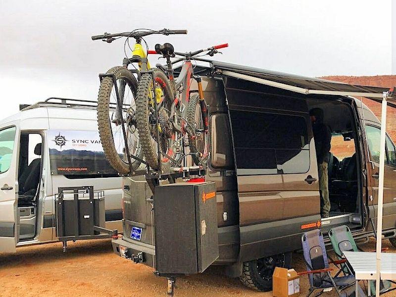 Mercedes sprinter bike rack phone dash cam mount