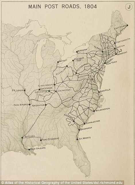 New York Map 1800.Nnew Map Reveals Just How Far You Could Get From Ny In One Day