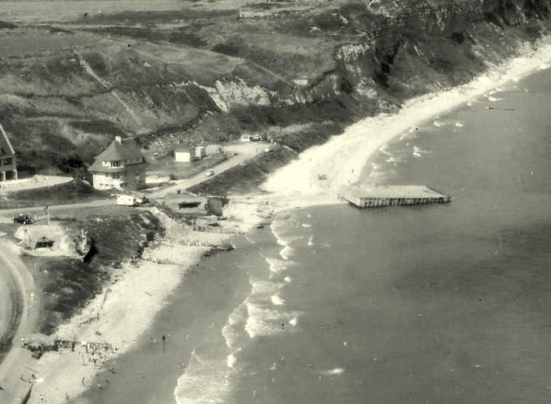 Arial view of WN72 and WN73, Omaha Beach, 1950  | Military