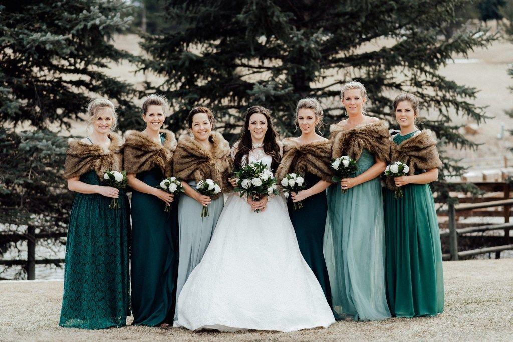 Evergreen Lake House Wedding Evergreen Wedding Photographer Winter Bridesmaid Dresses Green Bridesmaid Dresses Southern Bridesmaids Dresses