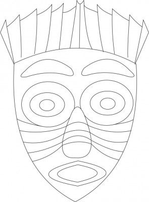 Carteta indio 2 art d 39 enfant pinterest colorir for Aztec mask template