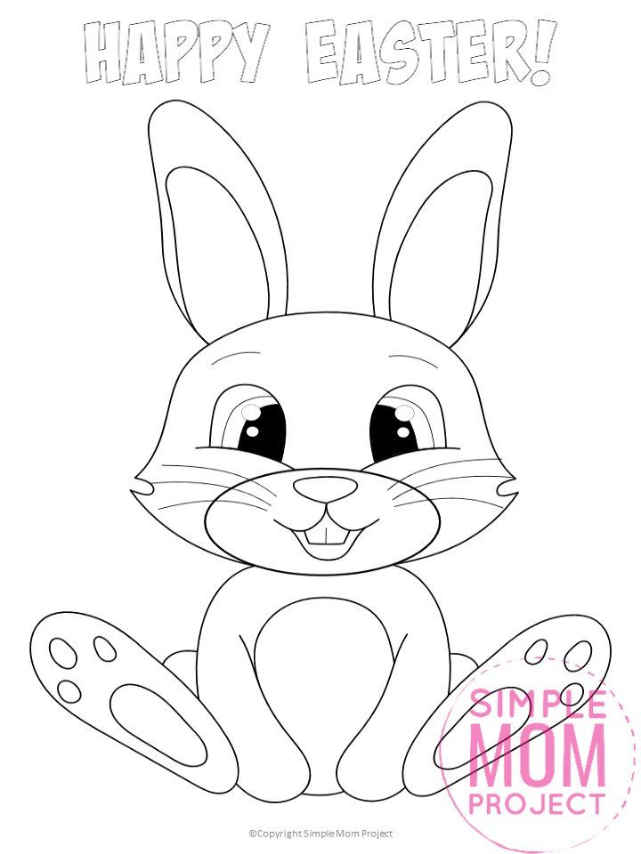 Free Printable Easter Bunny Coloring Pages For Kids Simple Mom Project In 2020 Bunny Coloring Pages Easter Coloring Pages Easter Bunny Colouring