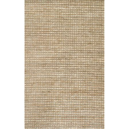 Lend natural appeal to your living room or sunroom with this artfully hand-woven rug, crafted of eco-friendly hemp in a natural hue.   ...