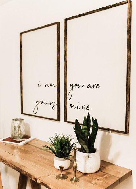 I Am Yours, You Are Mine Set | Wood Sign(s)