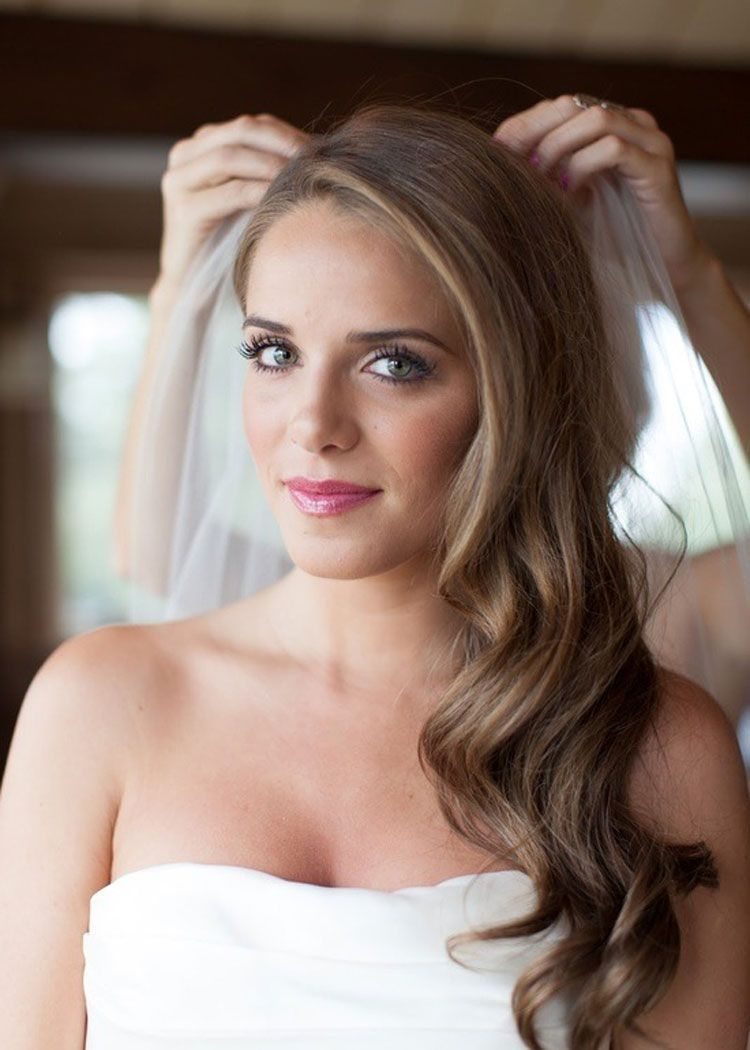 wedding hairstyles for long hair with veil wedding