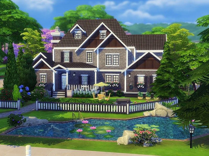 Exclusive suburban house is  very elegant family home built on  lot in willow creek found tsr category  sims residential lots also rh pinterest