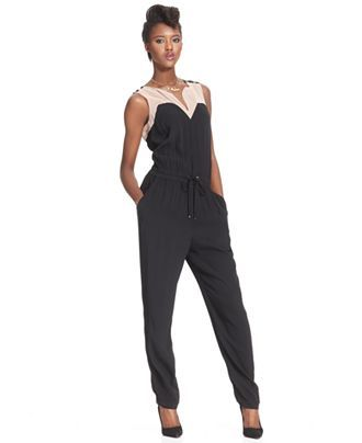 b7c044a7dca RACHEL Rachel Roy Colorblocked Jumpsuit - Jumpsuits & Rompers - Women -  Macy's